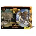 Набор юного палеонтолога Трицератопс и мамонт