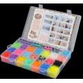 Набор резинок для плетения Rainbow Loom 22цвета, 5500резинок